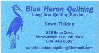 Blue Heron Quilting